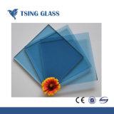 Limpar o vidro temperado colorido com orifícios /bordas polidas /logotipo / silk-screen