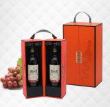 Bouteilles du matériau deux de forces de défense principale de qualité supérieur de boîte-cadeau se pliante de vin, boîte neuve à vin de modèle, boîte à vin de festival