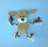 Juguete relleno suave del mono del animal doméstico de la felpa con la cuerda y el Squeaker