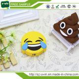 만화 Emoji 힘 은행 연약한 PVC 휴대용 전화 배터리 충전기