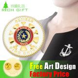 Предохранительный палец металлические 2D/3D-Gold Булавка эмблему для продажи