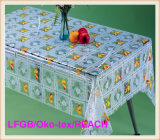 Design 새로운 PVC Transparent와 Embossed Tablecloth Factory (TJ3D0004)