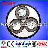 Cavo di alluminio medio 3X95mm del cavo 15kv di tensione con il certificato del Ce