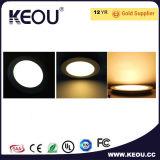 Do painel claro da fábrica do diodo emissor de luz do ISO luz redonda magro clara do diodo emissor de luz do painel do diodo emissor de luz