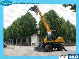 Pelle hydraulique de rotation de la forêt de bois pour la vente Grab