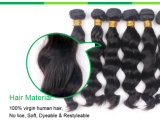 Trama malaia do cabelo do Virgin humano preto natural não processado de 100%