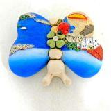 イタリアの景色の主題の蝶冷却装置磁石の樹脂の磁石の記念品