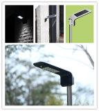 Nuevo diseño de la tecnología LED en una calle la luz solar