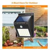 Capteur de mouvement de la sécurité en plein air solaire lumineux lumière de nuit pour Wall Garden