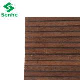 Revestimento de bambu tecido costa raspado mão do Decking