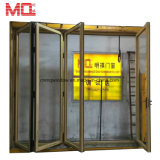 Het Lowes Aangemaakte het Vouwen van het Aluminium van het Glas Binnenlandse Ontwerp van de Deur