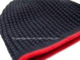 Шлем 100% акриловый реверзибельный Красн-Striped связанный