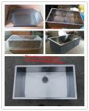 Edelstahl-handgemachte Wanne, Undermount einzelnes großes Filterglocke-Küche-Bassin Hmss3017