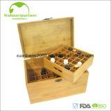Bamboo коробка хранения эфирного масла с стильными замком и крышкой Flip