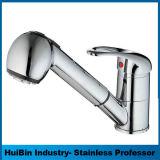 Chrom-fertiges Badezimmer-Messingbassin-Toiletten-Handhahn