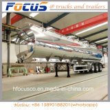 3 차축 알루미늄 강철 연료유 탱크 세미트레일러 52000 리터