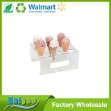 Sección 9 de acrílico transparente cono de helado titular