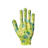 13G de l'impression des gants en nitrile Shell en Nylon de jardin