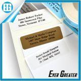 Etiqueta de las etiquetas del vinilo de plata durable para el tipo de máquina de la fábrica