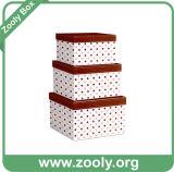 Conjunto del rectángulo de regalo de encargo del almacenaje del papel de la jerarquización de 6 cartones