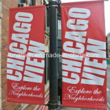 Matériel extérieur de base de bandeau publicitaire de cadre léger d'annonces de rue de bride de drapeau