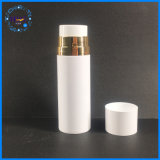 Kosmetik-verpackende weiße luftlose Haustier-Plastikflasche