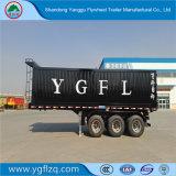 3 as zelf-Dumpt de Op zwaar werk berekende Achter Semi Aanhangwagen van de Vrachtwagen van de Kipwagen met Cilinder Hyva voor Vervoer van het Zand/van de Steen/van de Steenkool