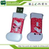 プラスチッククリスマスのギフトUSBのフラッシュ駆動機構USBのペン