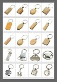 Newest Design Logo House Wooden Metal Keyring with High Quality