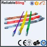 Imbracatura di sollevamento piana resistente di vendita calda della tessitura del poliestere ad alta resistenza