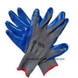 Нитриловые перчатки безопасности с покрытием