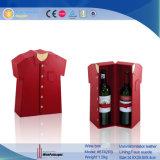 Contenitore di legno di vino di memoria dell'imballaggio del regalo elegante del cuoio (5853R1)