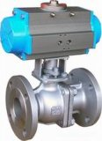 Neumático con la válvula de control manual de bola