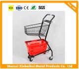 Trole da compra do Handcart do supermercado de três cestas