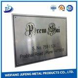En acier inoxydable OEM/plaques de vélo en laiton Nom du logo
