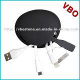 Silicium de vente chaud 4 en 1 câble de remplissage d'USB