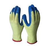 10g ondulée bleu des gants en latex pour les machines de fabrication