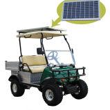Voiturette de golf chariot cargo transporteur VEHICULE AVEC PANNEAU SOLAIRE