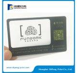 Impressão de cartão de plástico com código Qr (DP-CA005)