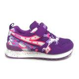 De nieuwe Purpere Schoenen van de Meisjes van de Kleur ontwerpen het Kant van de Goede Kwaliteit op Schoenen voor School