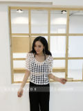 La camicetta lunga della camicia del Crochet del merletto del manicotto supera i fornitori di vestiti bianchi della camicetta