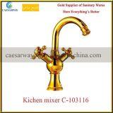 Misturador sanitário do Faucet da cozinha da água dos mercadorias