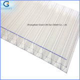 3-Wall Mutil-Wall Rectangular PC Policarbonato Hollow Sheet for Roofing