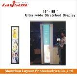 24 pouces étiré Bar ultra large de la publicité Media Player de signalisation numérique multimédia de réseau WiFi moniteur LED Affichage panneau LCD pleine couleur