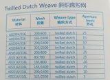 Ss de Nederlandse Doek van uitstekende kwaliteit van het Netwerk van de Draad van de Filter van het Weefsel
