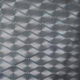 O diamante de prata brilhante gravado o couro do PVC para a decoração da tampa da parede