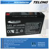 batería recargable de la energía de 6V 7ah (batería de plomo)