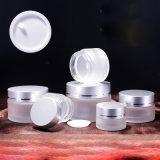 Het hete Kosmetische Pakket van de Fles van het Glas van de Room van de Verkoop 50ml Berijpte