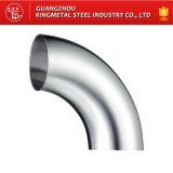 Codo largo de acero de 90 grados de Inox de la guarnición de tubo de A270 AISI 316L Santary
