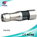 동축을%s Rg11 압축 RF F CATV 케이블 연결관 (pH6-5039)